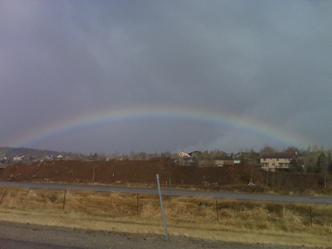 snowbow is a rainbow when it's snowing...