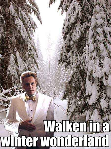 Christopher Walken Winter Wonderland